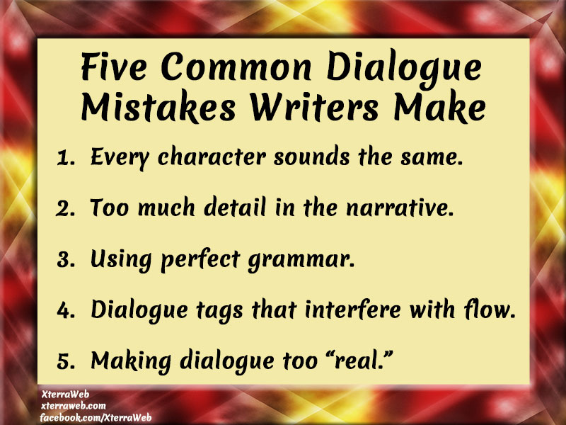 Mistakes writers make when writing a script