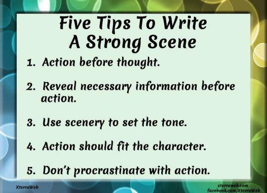 Five tips to write a strong scene
