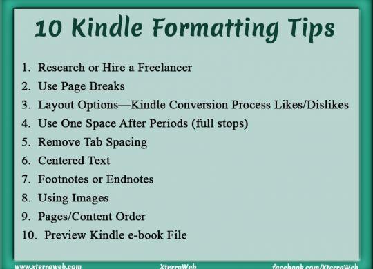 10 Kindle Formatting Tips. Kindle e-book formatting.